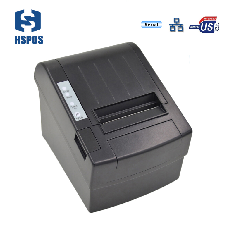 Serial port POS printer 80mm thermal receipt printer usb and lan interface support multiple language low cost and high-quality serial port best price 80mm desktop direct thermal printer for bill ticket receipt ocpp 802