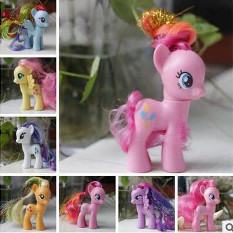 8 cmCollection pawl Sevimli patroled PVC Unicorn Poni Oyuncaklar Çocuk Doğum Günü Tatil Için Noel bebek Gif