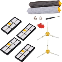Replenishment Kit For Irobot Roomba 800 900 Series, 9 Pcs Vacuum Replacement Parts With 4 Hepa Filters 2 Side Brushes 1 Set De 5x side brushes 5x filters replacement for irobot roomba 800 900 860 880 980 960 870 robotic cleaner parts accessories
