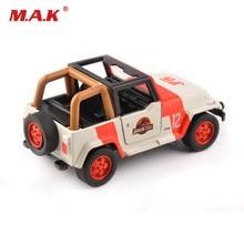 цены на 1/32 scale alloy diecast Jeep wrangler jurassic park orange/white diecast car model toys children kids gift collection  в интернет-магазинах