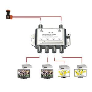 Image 2 - 2018 도매 2 4 DiSEqC 스위치 4x1 DiSEqC 스위치 위성 안테나 평면 LNB 스위치 TV 수신기