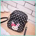 PU leather coin purse polka dot small change bag cartoon rabbite crossbody bags mini pouch bolso mujer bolsa feminina for girls
