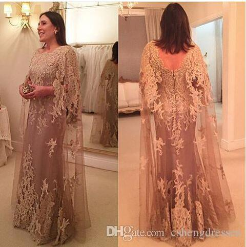 2017 New Tulle Lace Cowl Mother of the Bride Dresses for Weddings Long Plus Size Formal Women Party Gowns