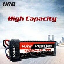 HRB 200C 7,4 V 11,1 V 14,8 V 18,5 V 22,2 V 5000 мА/ч, графеновой батареи Батарея 2S 3S 4S 5S 6S LiPo Батарея для автомобиль Traxxas RC Вертолет Лодка