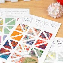 1 лист уголок альбома Наклейки Сладкий цветочный правый угол дневник фото украшение для альбомов наклейки