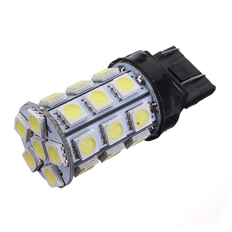 Meilleure Promotion T20 7443 7440 27 5050 SMD LED Pure White Car frein tournez Signal d'arrêt arrière ampoule lampe DC12V