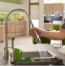 Смеситель для Кухни Матовый краны для кухни выдвижной спрей смеситель коснитесь Матовый никель Кухня снести Смеситель Краны