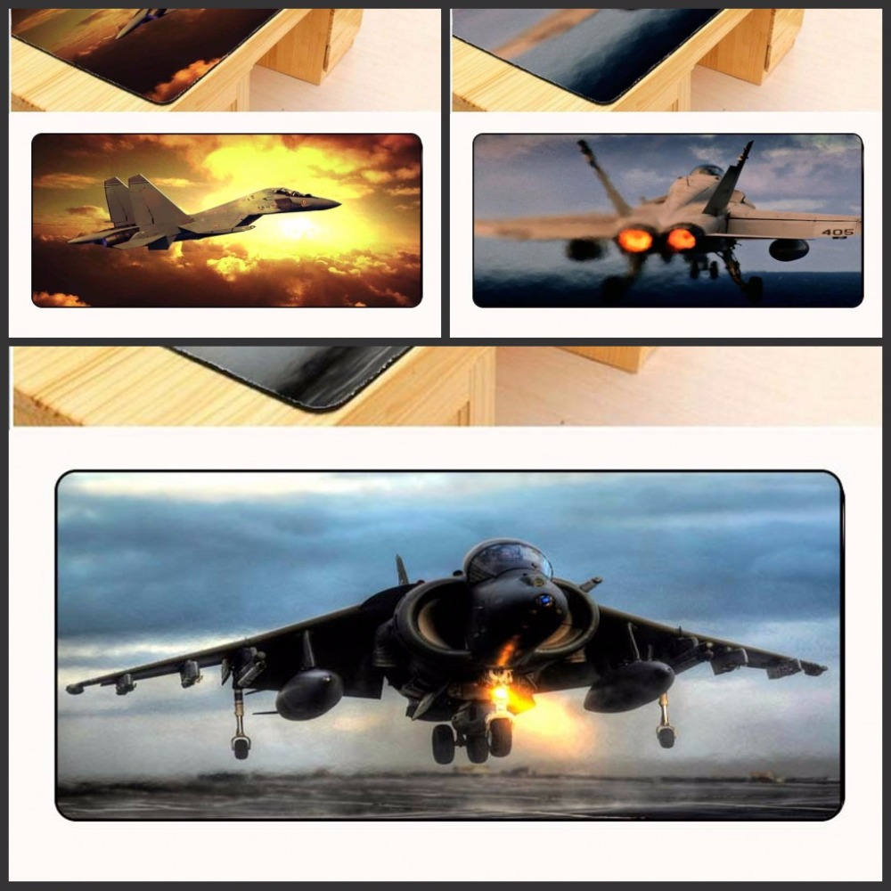 Yuzuoan Free Shipping Large Edge Lock Padmouse My Favorite Airplane Airbus Cloud Gamer Speed Mice Retail Desk Mouse pad As Gift