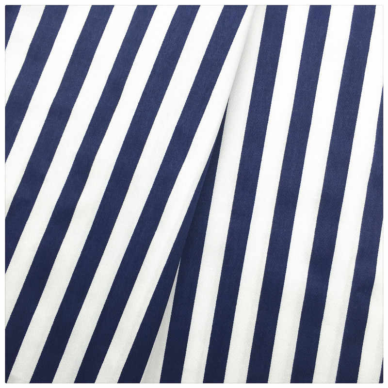 Dark Blue Stripe Print Twill Cotton Fabric Patchwork For Sewing Quilt Scrapbooking Tissue Needlework Material Curtain Cloth