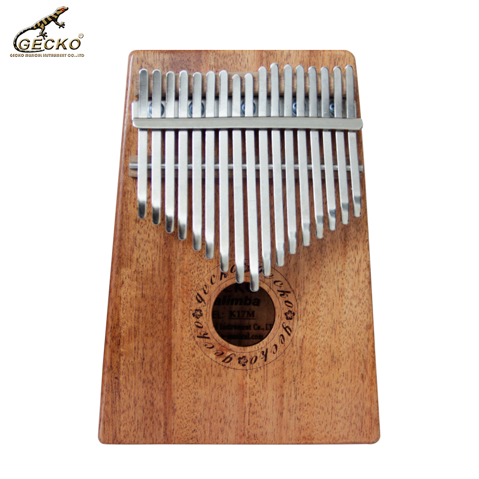 red pinewood kalimba 10 key finger thumb piano musical instrument Gecko New 17 Key K17M solid  mahogany  Kalimba Mahogany African Thumb Piano Finger Percussion Keyboard Music Instruments