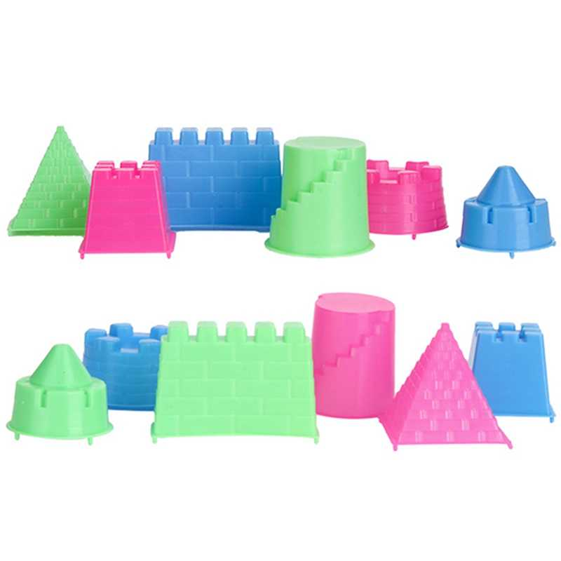 6PCS DIY Educational Toys Indoor Magic Play Sand Castle Models Building Dynamic Magic Sand Clay Model Building Toys