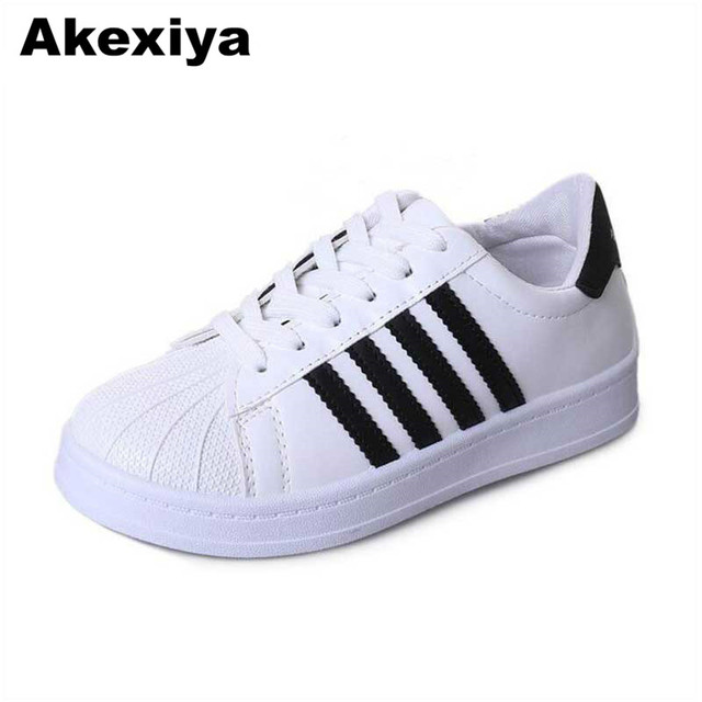 90e7fce83a9 Akexiya 2018 women shoes platform striped PU leather classic cotton women  casual lace-up white shoes sneakers zapatos