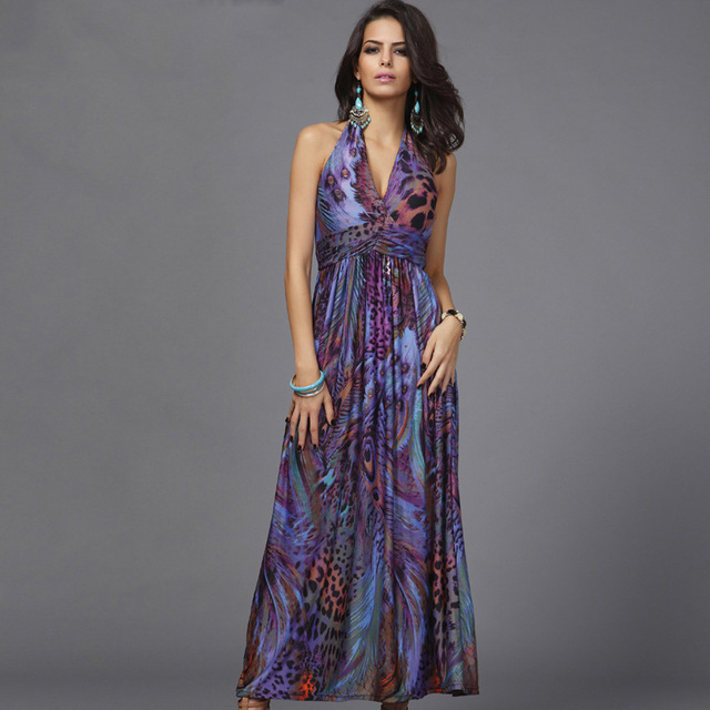 authentic quality catch many fashionable Plus size colorful fashion print Bohemian women maxi dress 2020 ...