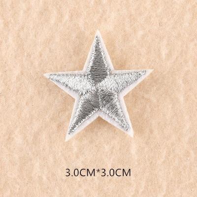 1 шт. смешанные нашивки со звездами для одежды, железная вышитая аппликация, милая нашивка эмблема на ткани, одежда, аксессуары для одежды DIY 61 - Цвет: 61O