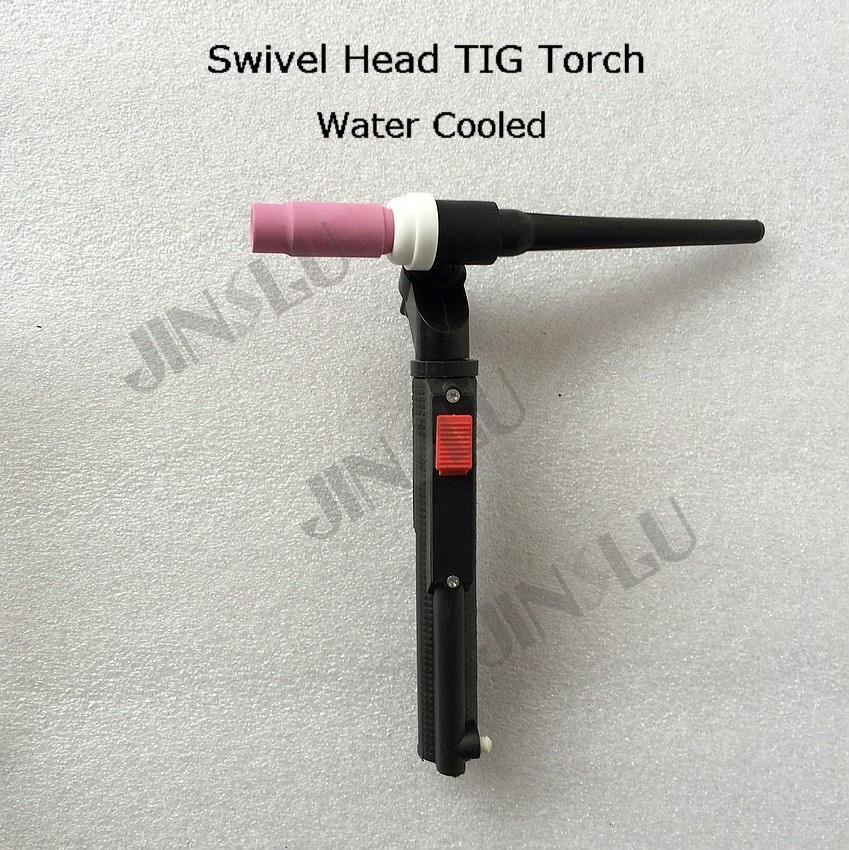 1/4-28 Swivel Head TIG Torch Consumables Head Body wp 18 series Water Cooled wp 17fv sr 17fv air cooled 150amp 17feet 5meter tig welding torch complete soldering iron weld