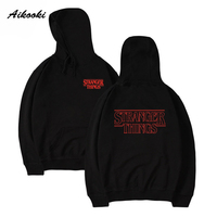 Aikooki 2017 Fashion Stranger Things Hoodies Sweatshirt Cap Clothes Sweatshirt Hoodies Men Women Autumn Winter Hip