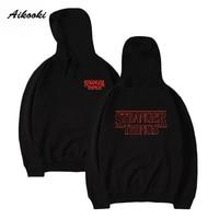 Aikooki 2017 Fashion Stranger Things Hoodies Sweatshirt Cap Clothes Sweatshirt Hoodies Men Women Autumn Winter Hip