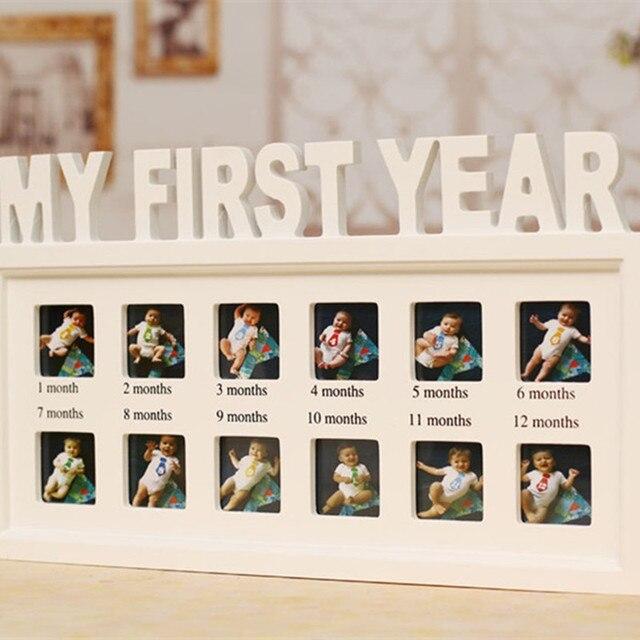 Niños 12x imagen Marcos mural blanco decoración creativa primer año ...