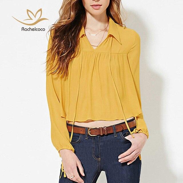 Más Mujeres Amarillas 2018 Xsxxl Moda De Blusas Las Tallas Mujer RC0wqOw5xf