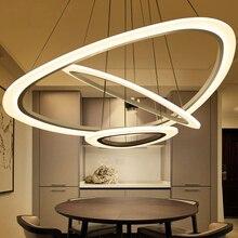 LICAN Circel Rings Modern led ceiling Chandelier lights for living room Dining Room White Dec AC85-265V Ceiling Chandelier