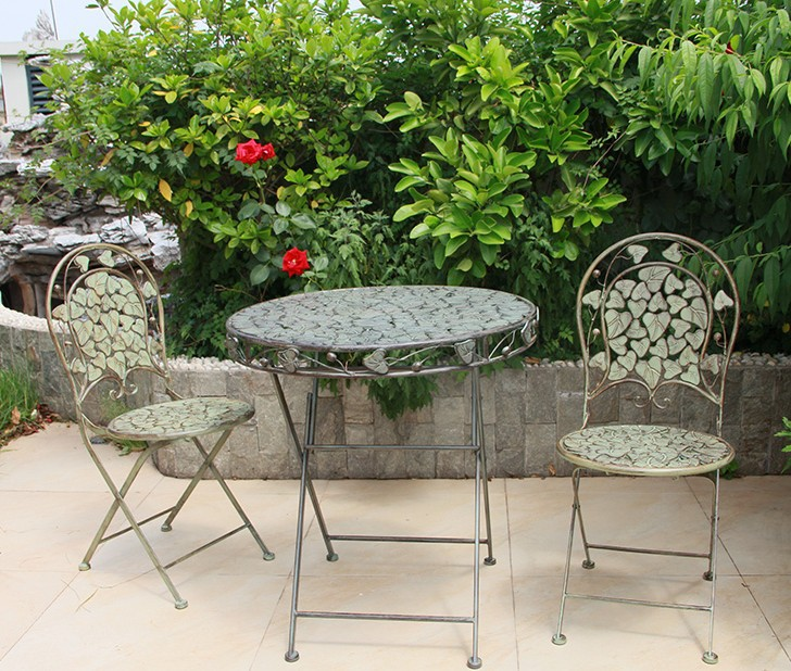 Garden Sets Outdoor Furniture Furniture European Garden Style Outdoor Metal  2 Chairs U0026 1 Table Sets Foldable Green Whole Sale  In Garden Sets From  Furniture ...