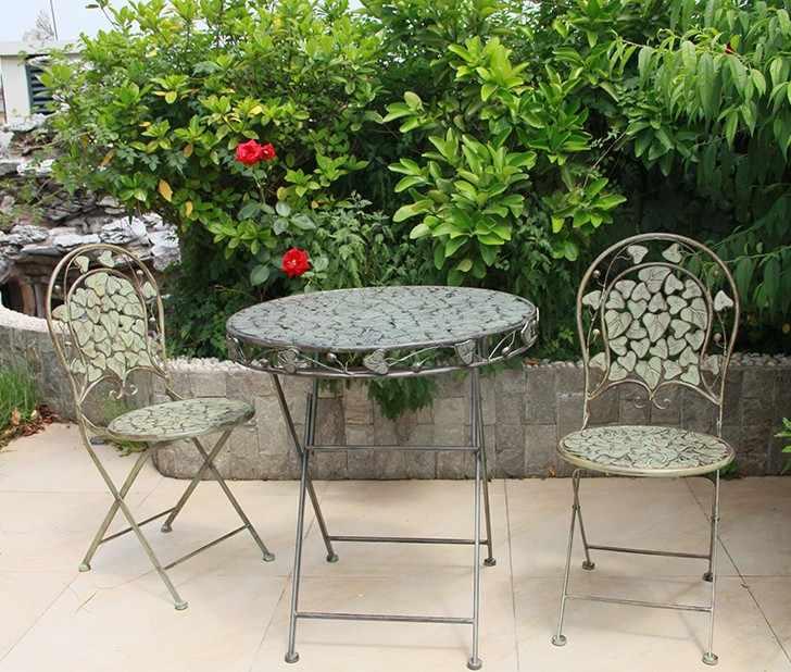 garden sets outdoor furniture metal 2 chairs 1 table sets foldable table chairs sets patio furniture salon de jardin exterieur