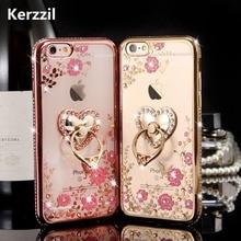 Kerzzil Bling Diamond Floral Holder Phone Case for