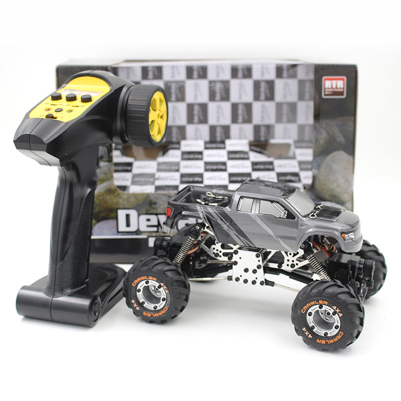 2098B 1:24 2.4Ghz 4CH Radio Remote Control Rock Crawler RC Car EU Plug