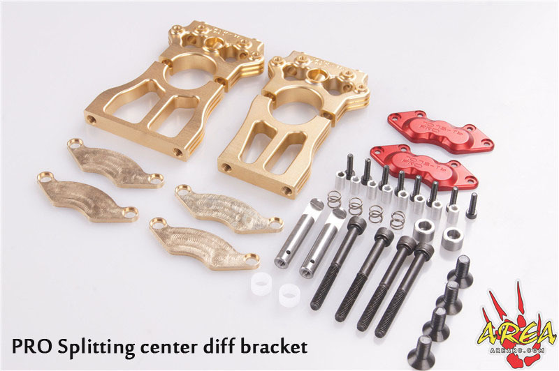 Area RC Splitting center diff bracket for Losi 5t USA 7075-T6 PRO area rc rear hub carrier for losi 5t 5ive t
