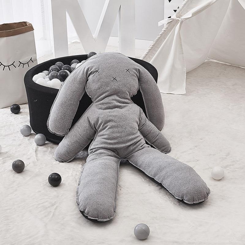 Baby Room Decoration Newborn Sleeping Room Rabbit Shape Pillow Cushion Bumper Infant Stuffed Plush Toys Photograph Props Bumper