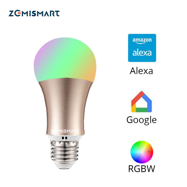 IFTTT  google Led Bulb Dimmer 2.4G Wifi Smart Light Bulbs Remote Control RGB Multi Colors Changing Via APP Voice Control Alexa