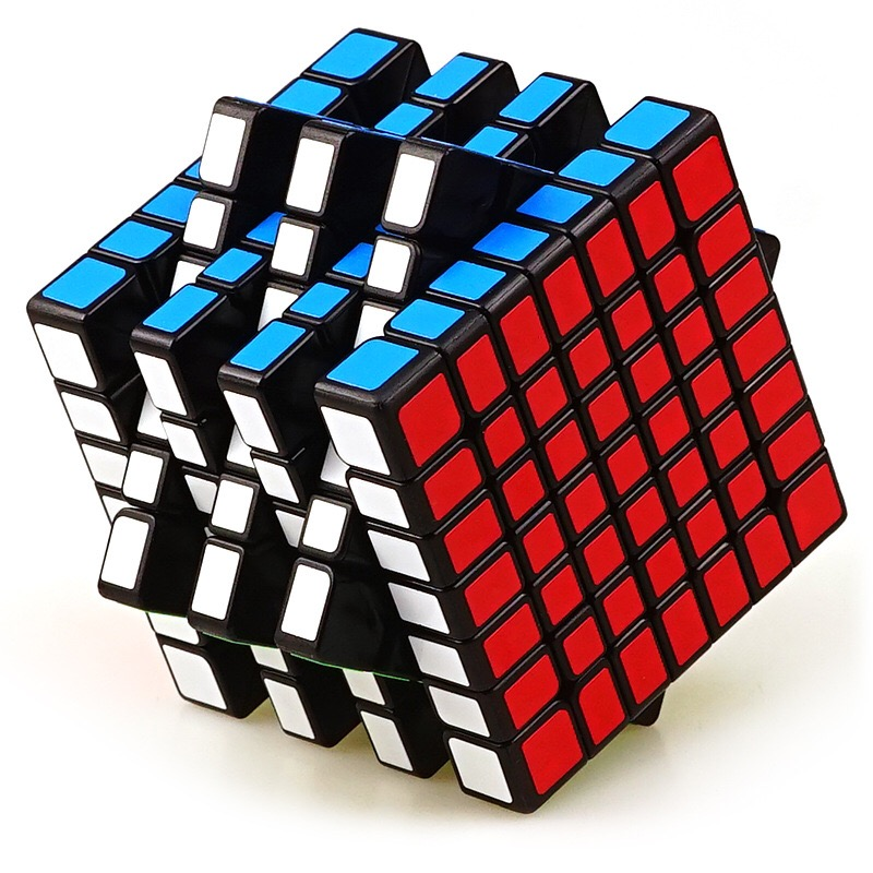 Qiyi Qixing 7x7x7 Magic Speed Cube Black White Base Colorful Cube Gift Toy For Children