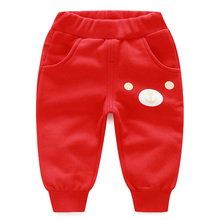 YiErYing  Baby Trousers Cotton Spring and Autumn Cartoon Leisure Printed Infant Pants Cute Newborn