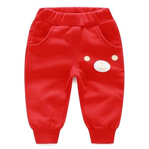 yierying calcas do bebe do algodao primavera e no outono dos desenhos animados de lazer