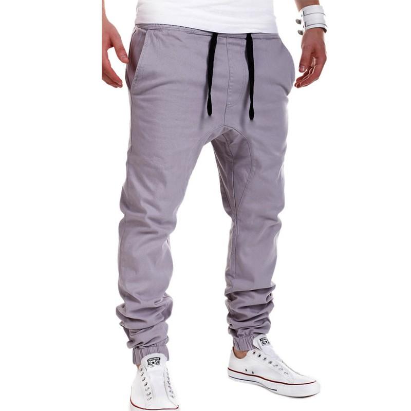 New Men Haren Sweat Pants for Men 2016 Harem Pants Men Pocket Drawstring For Training Men Hip Hop Loose Solid Trianing Pants  (3)
