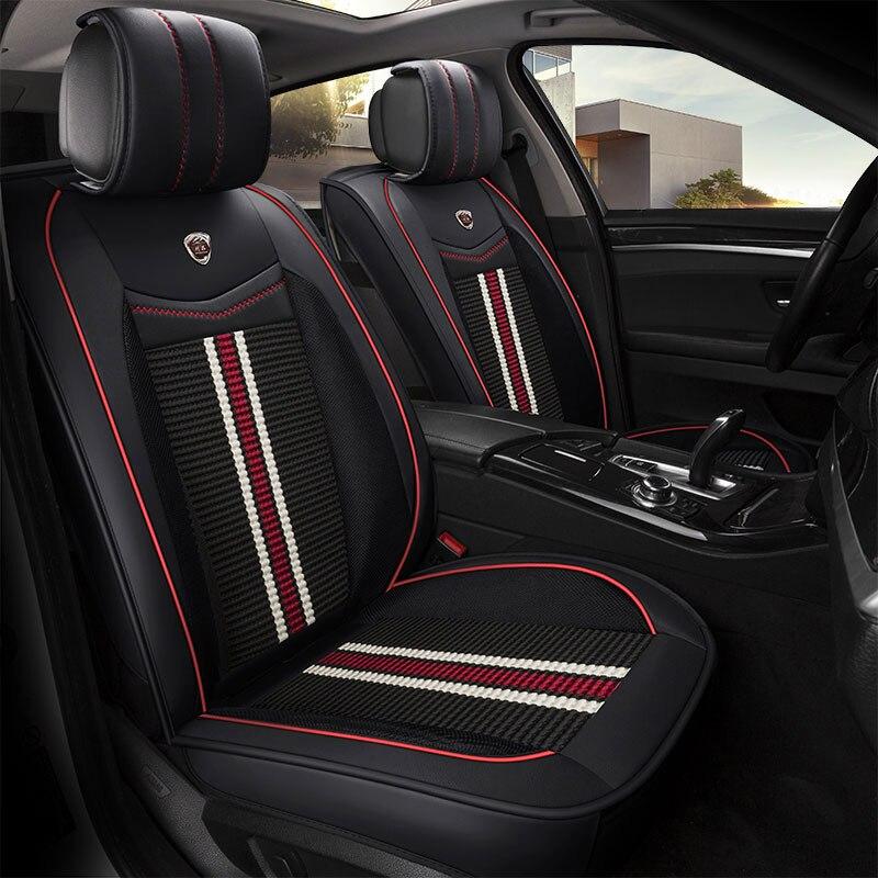 car ( front rear ) seat covers universal seats protector mat for ford matiz nexia cadillac cts xts xt5 ats sls ct5 ct6 escalade