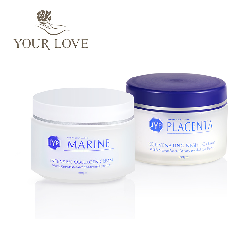 100% NewZealand Marine Collagen Nourishin Day Cream+Sheep Placenta Night Face Cream Sets Rejuvenation Cream Easy absorbing cream cream cream live