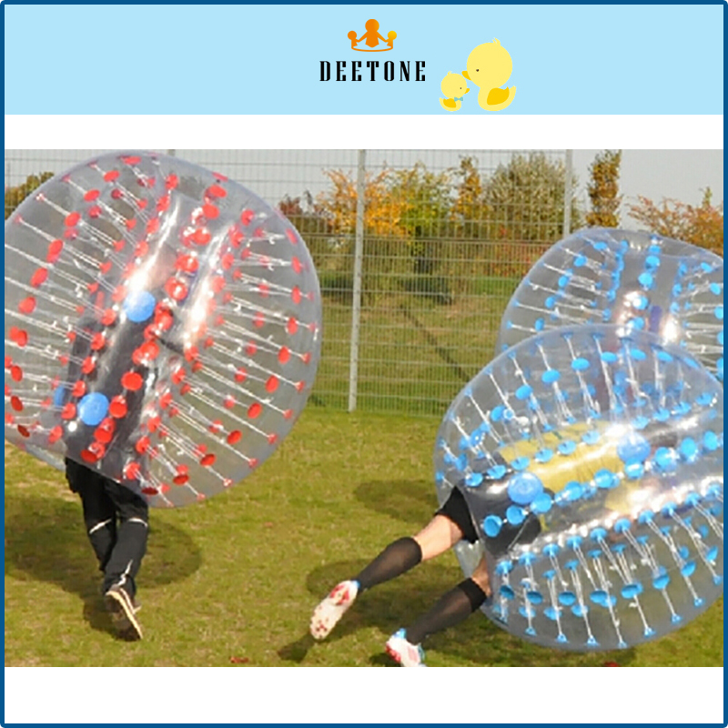 DEETONE Air Bubble Soccer 0.8mm PVC 1.2M 1.5M 1.8m Air Bumper Ball Adult Inflatable Bubble Football,Zorb Ball For Sale