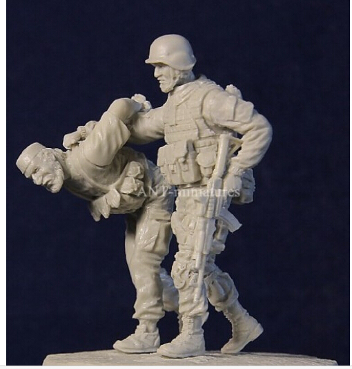 Resin Kits  1/35 Modern Russian military to arrest terrorists Resin Model Free Shipping