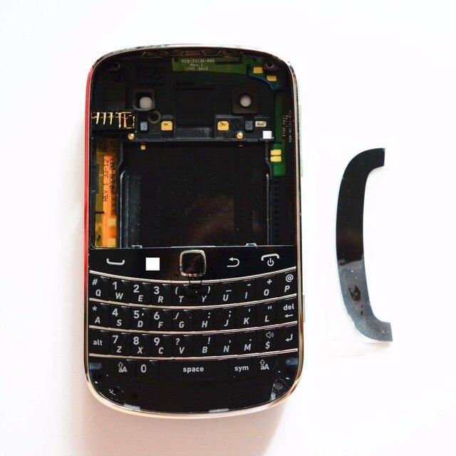1 Компл. Для Blackberry bold 9900 Корпус Полный Обложка Чехол Полный + Клавиатура Гибкий Черный/Белый