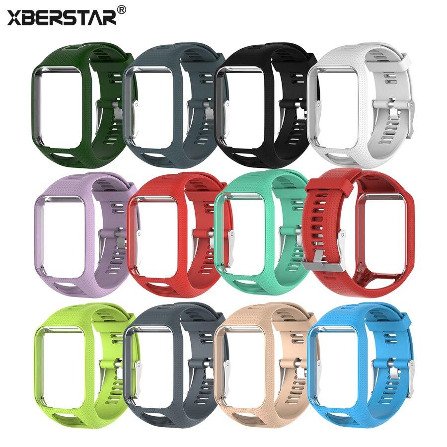 XBERSTAR Handgelenk Band Armband für TomTom Runner 2 3 Armband Strap für TomTom Funken Golfer Adventurer Funken 3 GPS Uhr TPE