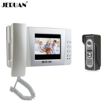 "JERUAN 4.3""  Color Wired Video door phone bell intercom system kit Night vision Camera doorphone FREE SHIPPING"