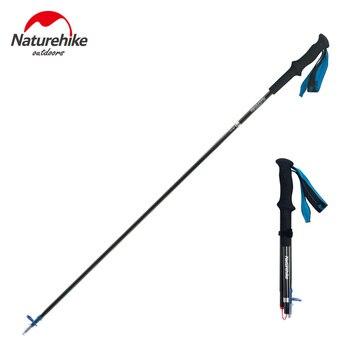 Naturehike треккинговые палки альпеншток складной углеродного волокна рюкзак для пеших прогулок палка для альпинизма 4 телескопическая