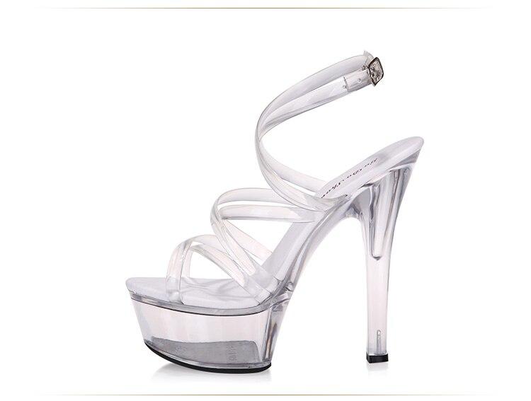 Casadas Y Claro Sandalias Cm Modelo Delgados Zapatos Sexis 2018 De 15 Mujer Transparentes Tacón Cristal Alto Verano ZqzxaZr