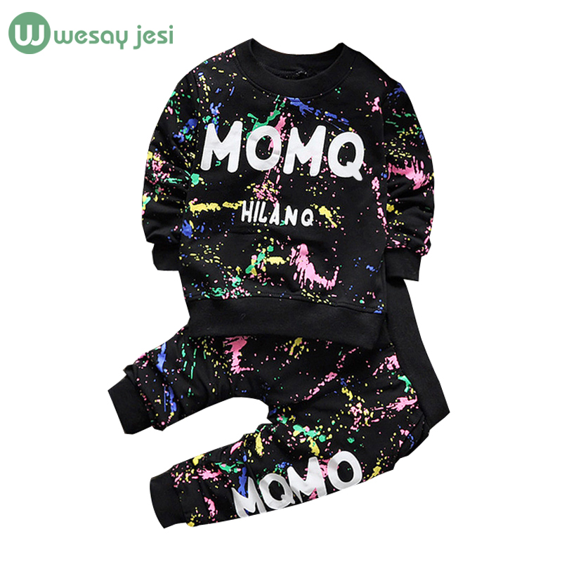 4ec377000bd8 0 2T Baby girl clothes winter Spring Fashion printing graffiti ...
