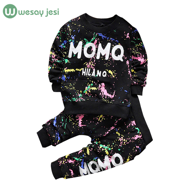 5d801d1c5533 0 2T Baby girl clothes winter Spring Fashion printing graffiti Newborn baby  boy clothing Set Girl Long Sleeve Infant Clothing -in Clothing Sets from ...