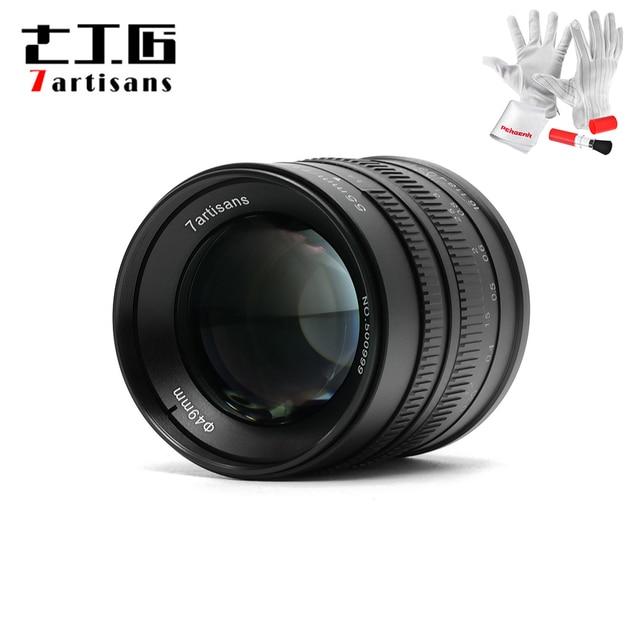 7 אומנים 55mm F1.4 גדול צמצם דיוקן פוקוס ידני מיקרו מצלמה עדשת Fit עבור Canon EOS M הר E הר פוג י FX כמות