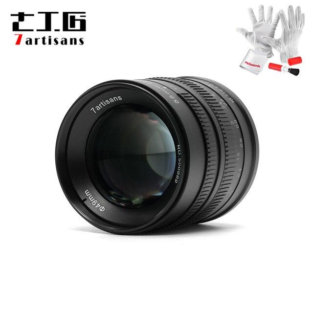 7 artesanos de 55mm F1.4 lente de cámara de enfoque Manual de retrato de gran apertura compatible con montaje en EOS M Canon e mount Fuji fx amount