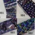 20cm explosions,diy Symphony irregular Nail Accessories Transfer nail sticker nail Aurora glass paper Star stickers