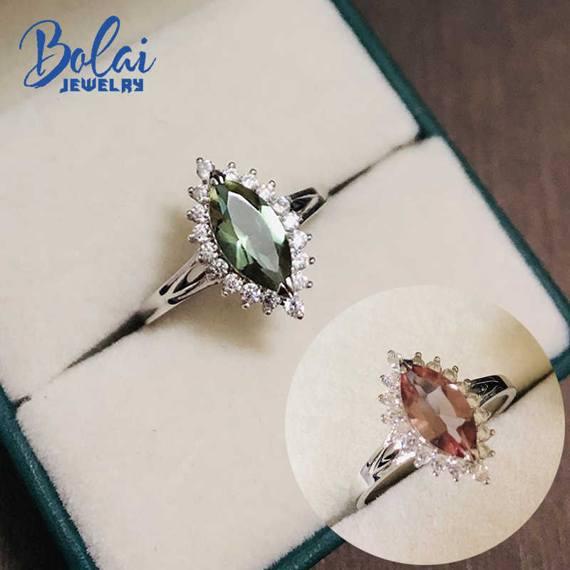 Bolai zultanite wedding ring 925 sterling silver color change diaspore gemstone fine jewelry rings for women gift 2019 new